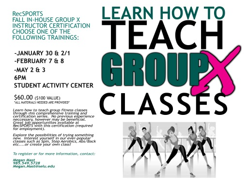 Dreamed of being a Group X instructor? We know you can do it! Pick one of the trainings below.