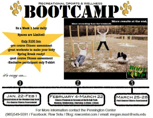 Boot Camp is back! Sign up by Friday, Feb. 1st!