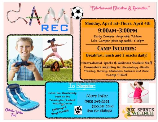 2nd Annual Camp Rec Spring Break 2013