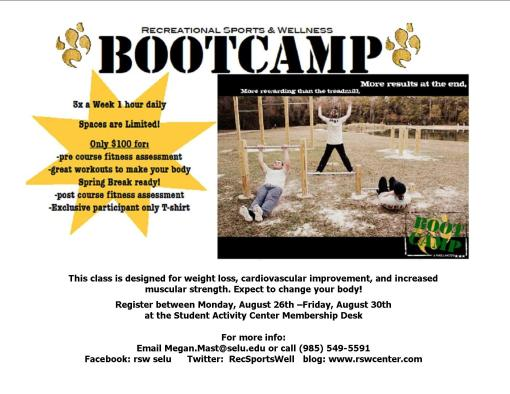 Bootcamp is back! Register between Aug. 26-30.