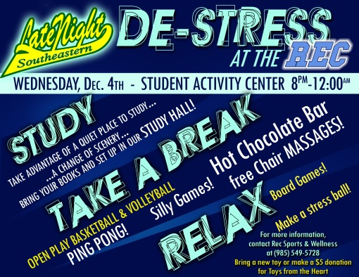 Free Chair Massages at DeStress on Wednesday, 12/4!