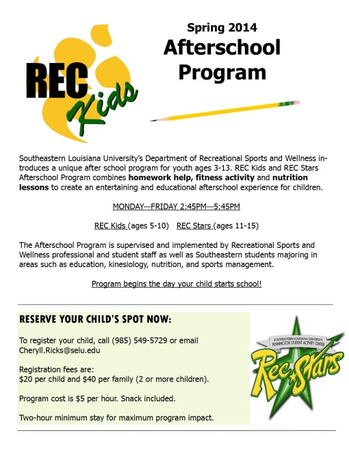 Want to know more about the Rec Kids After School Program?