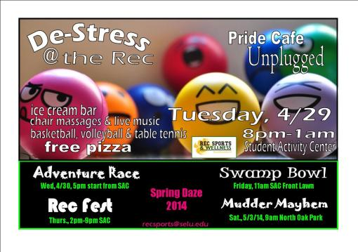 Get Rec'd at the Rec during Spring Daze Week, April 28-May 3rd!