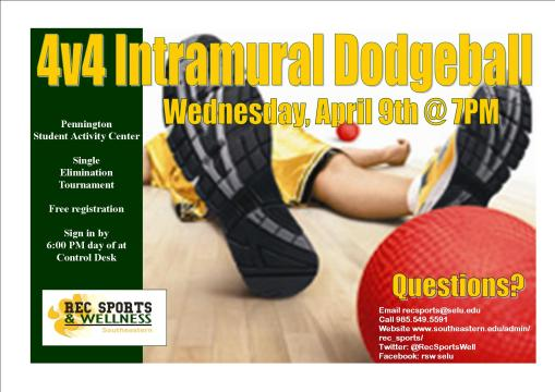Get ready for some 4v4 Dodgeball Tournament fun!