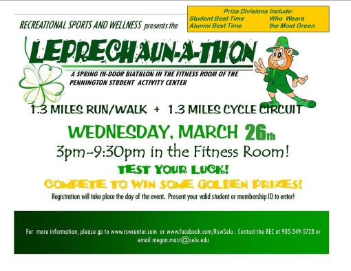 Leap into spring with the Student Activity Center's Leprechaunathon
