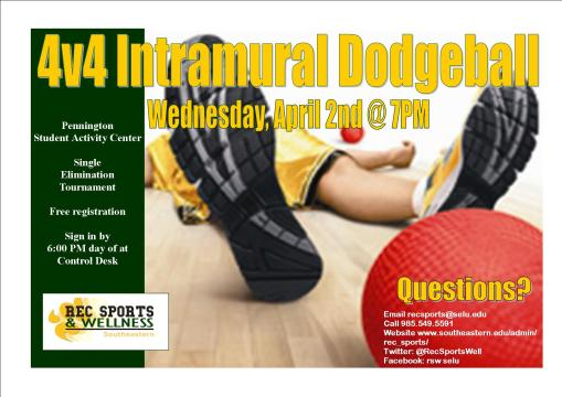 Whack your friends! Dodgeball tournament tonight!